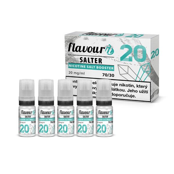 Flavourit Salter nikotinos bazis 20mg 70-30 5x10ml