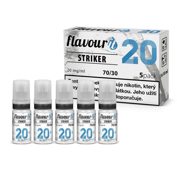 Flavourit Striker nikotinos bazis 20mg 70-30 5x10ml