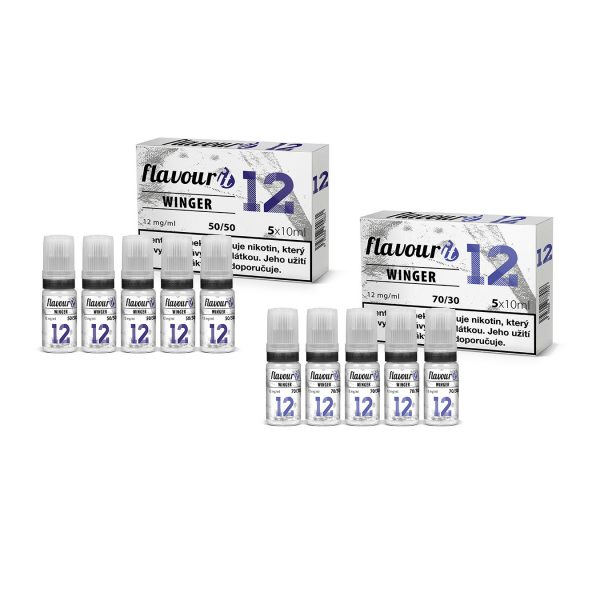 Flavourit Winger nikotinos bazis 12mg 5x10ml
