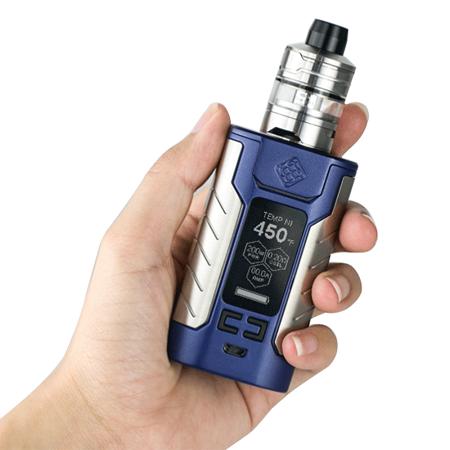 Wismec Sinuous FJ200 elektromos cigaretta keszlet Divider tankkal kezben