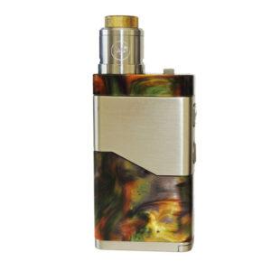 Wismec Luxotic NC 250W 20700 elektromos cigaretta keszlet Guillotine V2 tankkal szinek green resin