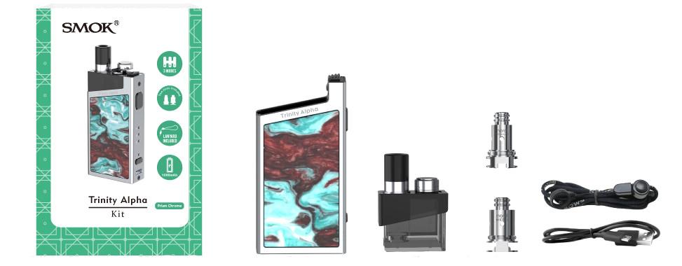 Smok Trinity Alpha Resin Pod keszlet tartalma