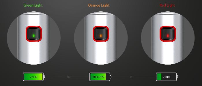 Smok Stick 80W elektromos ciaretta keszlet akkumulator toltottseg jelzo