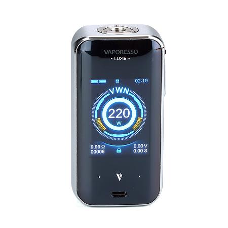 Vaporesso Luxe S elektromos cigaretta keszlet SKKR-S tankkal kijelzo
