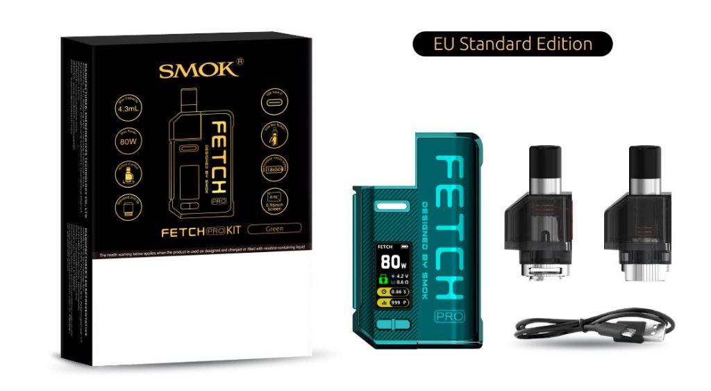 Smok Fetch Pro elektromos cigaretta keszlet keszlet tartalma