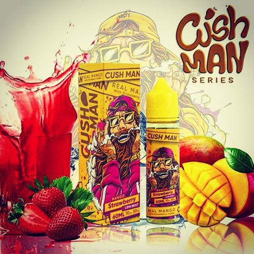 nasty juice cush man strawberry shake and vape