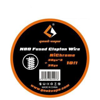 GeekVape N80 Fused Clapton Drôt (28GAx3+36GA), 3m