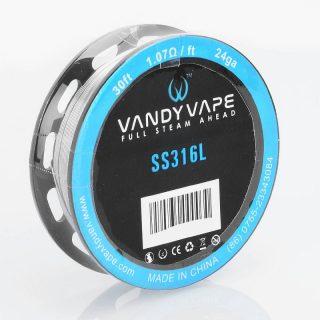 Vandy Vape SS316L - 24GA, 9m