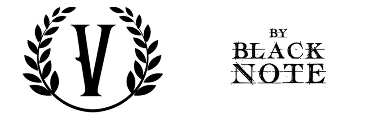 v-by-black-note logo